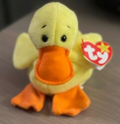 Rare Retired Beanie Baby Quackers With Errors And In Mint Condition