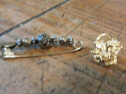 Pin Brooch Vintage Lot Gold And Silver A Must Have For The Collector