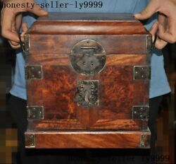 10chinese Huanghuali Wood Carved Ancient Dynasty Box Jewelry Box Storage Boxes