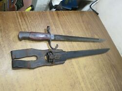 Wwii Japanese Type 30 Bayonet W/ Scabbard And Frog Made By Toyko Arsenal