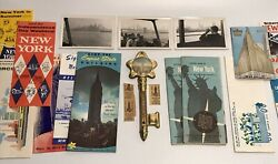 Huge Lot New York City Souvenirs Empire State Building Key Thermometer Tourist