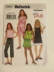 Sewing Pattern - Sew Girls Clothes Clothing - Tween Teen Plus Size Tank Top 3860