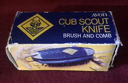 Vintage Avon Cub Scout Pocket Knife Brush And Comb Set New With Box