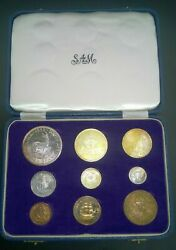 Very Rare South Africa 1959 Short Proof Set In Sam Box Uncleaned Excellent Set