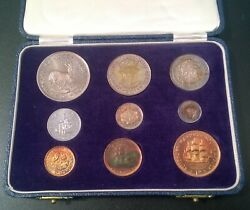 South Africa 1955 Short Proof Set In Sam Box - Rare Great Set Colour Toning