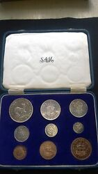 South Africa 1956 Short Proof Set In Sam Box - Very Rare - Excellent Set