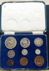 South Africa 1953 Short Proof Set In Sam Box - Low Mintage Coronation Year