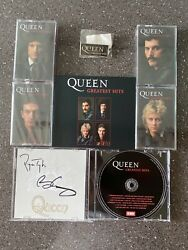 Queen Greatest Hits - Signed Cd And 4 Collectors Cassette Set Bundle, 1000 Only