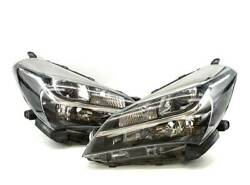 Vitz Series 130 Led Headlight Left And Right Sets Metaphase Koito 52-272 Stamped