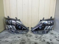20 Early Alphard No Afs Genuine Headlights Inner Black Processing Left And Right