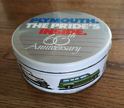 Rare Vintage Plymouth The Pride's Inside Tin Advertising 60th Anniversary