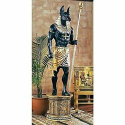 Ne23262 The Grand Ruler Life-size Egyptian Anubis Sculpture -over 8and039 Tall