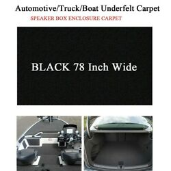 Black Marine Carpet Boat Upholstery And Trimming -prevents Mold And Mildew 36x78