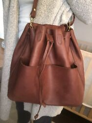 RARE Parker Clay Leather Bucket Bag $170.00