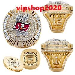 New Tampa Bay Buccaneers 2021 Championship Lv Ring Tom Brady Gift Fans Rings