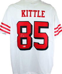 George Kittle Signed Sf 49ers White Nfl Nike Authentic Jersey- Beckett W Holo S