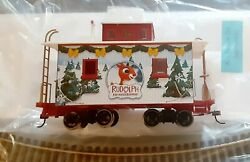Hawthorne Village Rudolph Christmas Town Express On30 Scale Caboose Rare Figure