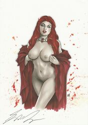 Original Melisandre A Game Of Thrones Art. Nude. Signed By George R R Martin