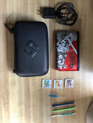 Nintendo 3ds Xl Limited Edition Red Super Smash Bros Edition With Games And Case