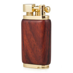 Rosewood Case Antique Style Lift Arm Tobacco Pipe Gas Lighter With Tamper And Pick