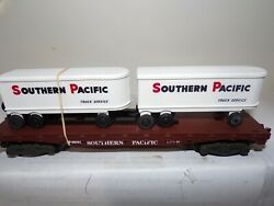American Flyer Mint 6-48501 Southern Pacific Flatcar With Two Removeable