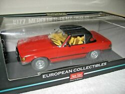 1977 Mercedes-benz 350 Sl Closed Convertible 118 A Nice Collectible By Sun Star