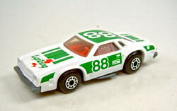 Matchbox Superfast No. 34 Chevy Pro-stocker Pre-production Model White And Green