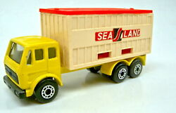 Matchbox Superfast No. 42 Mb Container Truck Pre-production Model Lemon-yellow