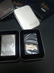 Zippo Beatles Engraved And 2 Sets Of Plate Upholstery Rare New