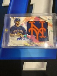 Pete Alonso 2020 Topps Inception Autograph Hat Patch 4/5 Mets Iah-pa