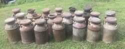 Vintage Americana Dairy Farm Milk Can Cream Cans Lot Of 20