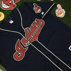 Vtg Paul Sorrent 11 Cleveland Indians Russell Athletic Authentic Jersey 44 Mlb