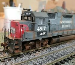 Athearn Ltex Ex Southern Pacific Sp Gp38-2 Weathered Locomotive Engine Ho Dc