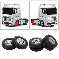 2pcs Rc Car 85mm Rubber Tires For Tamiya 1/14 Tractor Truck Accessories