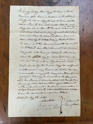 Massachusetts Town Finds No Duty To Support Escaped Slaves. Rare Manuscript.