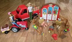 Large Lot Barbie Sweet Orchard Farm Truck Animals Dolls And More
