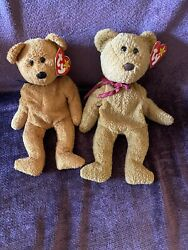 Ty Beanie Babies Lot Curly And Fuzz Collectible Teddy Bears Mint