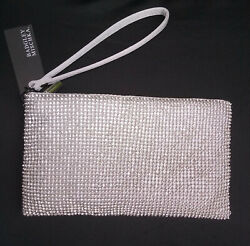 Silver Evening Wristlet Purse Badgely Mischka NEW with tags $45.00