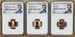 3 Coin Set 2019 First W Lincoln Cents Ms/pf/rev Pf70 All Ngc -009 Numbers