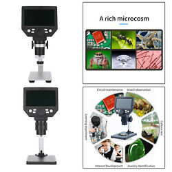 Digital Microscope 7inch Lcd Large Color Screen 12mp 1-1200x Magnifier