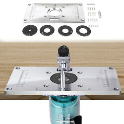 Alloy Router Table Insert Plate With 4 Rings Screws For Woodworking Benches