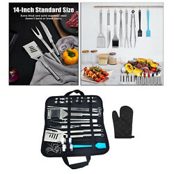 35 Pcs Premium Outdoor Camping Grill Bbq Utensil Tool Set With Carry Case
