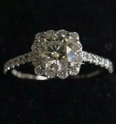 Natural Diamonds Large Grain With Appraisal Total 0.8ct Pt900 Ring