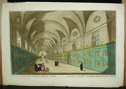 Engravings Print 18th C1770 Library Apostolic Vatican In Rome