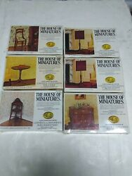 6 New House Of Minatures X-act Authentic Reproduction Doll Furniture 1/1 Kits