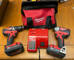 Milwaukee 2892-22ct M18 18v 2-tool Drill Driver And Impact Driver Combo Kit Ob