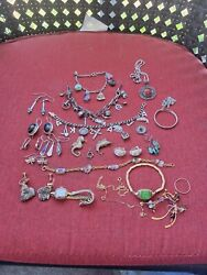 Vintage Gold-filled And Sterling Silver Jewelry Lot 4 Scrap Or Wear 175 Grams J1