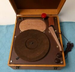 Vintage Portable Tube 78 Rpm Record Player Suitcase Style, Tested/working