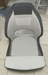 Captain's Boat Chair Seat With Flip-up Bolster And Swivel Slider Pedestal Base