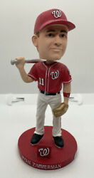 2010 Washington Nationals Silver And Gold Ryan Zimmerman Bobblehead - Autographed